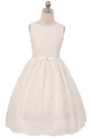 """Нарядное платье для девочки """"Суфле"""" Молочное 0345"""