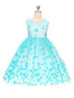 """Нарядное платье для девочки """"Арлекино"""" Бирюзовое 0351"""