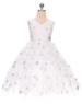 """Нарядное платье для девочки """"Арлекино"""" Белое 0351"""
