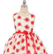 """Платье для малышки """"Облако"""" Красное 338"""