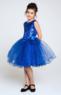 """Нарядное платье для девочки """"Астерия"""" Синее 009"""