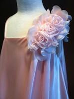 Детское платье на Одно плечо с Цветами (Розовое) KD-289