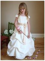 """Детское платье для девочки """"Дива"""" Молочное D 1147"""