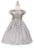 """Платье для девочки """"Алексия"""" Серебряное 1176 CC"""