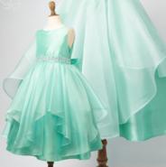 Нарядное платье для девочки Бабочка Бирюзовое 1198