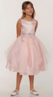 Нарядное платье для девочки Бабочка Розовое 1198