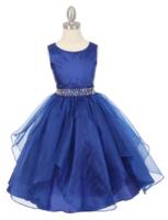 Нарядное платье для девочки Бабочка Синее 1198