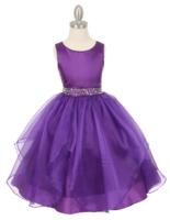 Нарядное платье для девочки Бабочка Фиолетовое 1198