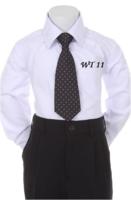 Детский галстук для мальчика Черный WT-11
