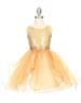 """Нарядное платье для девочки """"Карнавальная бабочка"""" Золотое 1207"""