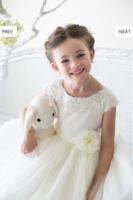 """Детское платье для девочки """"Ницца"""" Молочное D 1234"""