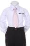 Детский галстук для мальчика Розовый WT-13