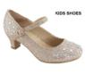 Нарядные туфли для девочки на каблуке Золотые Anne Marie AA-Tinos-1A