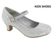 Нарядные туфли для девочки на каблуке Серебряные Anne Marie AA-Tinos-1A
