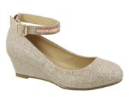 """Нарядные туфли для девочки """"Top Moda"""" Шампань TG-Piera-1"""
