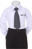 Детский галстук для мальчика Черный WT-18