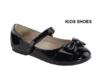 """Нарядные лаковые туфли для девочки с Бантиком Черные """"Bella Marie"""" AA-Stacy-308K"""