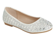"""Нарядные туфли для девочек подростков """"Мика"""" Белые KF-Mika-41"""