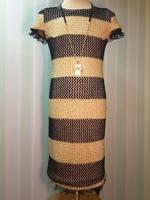 Нарядное платье для девочки Синее -Шампань 823