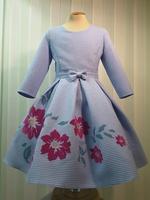"""Платье для девочки с длинным рукавом """"Вероника"""" Голубое 2115"""