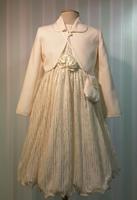 """Нарядное платье для девочки """"Фике"""" Молочное"""