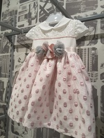 """Платье для новорожденной девочки """"Горошек"""" Розовое 114"""