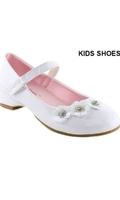 Нарядные туфли для девочки на каблуке Белые DM-ELLA