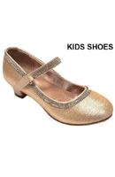 Нарядные туфли для девочки на каблуке Шампань DM-FANCY