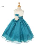 Нарядное платье для девочки Тулуза Бирюзовое 2058 KK