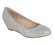 Нарядные туфли для девочек подростков Серебряные KF-FISHER-2