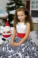 """Детское платье """"Кармен"""" Красный пояс KD-292"""
