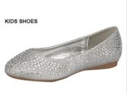 Нарядные туфли для девочки Серебряные IRENE-1K