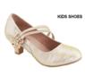 Нарядные туфли для девочки на каблуке Золотые Bella Marie AA-Sassie-31K