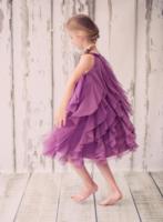 """Нарядное платье для девочки """"Амбрелла"""" Фиолетовое 8055"""