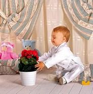"""Нарядный детский """"Костюм-Фрак"""" для новорожденного мальчика Молочный KD-4001"""