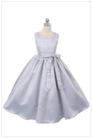 """Платье для девочки """"Кристи"""" Серебряное GG-3294"""