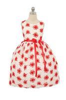 """Нарядное платье для девочки """"Облако"""" Красное 336"""