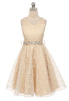 """Бальное платье для девочки """"Мирабелла"""" Шампань 338"""