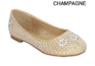 Нарядные туфли для девочки со стразами Золотые KF-LANCEY-23K