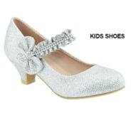 Нарядные туфли для девочки с пряжкой Серебряные AA-SASSIE-09K