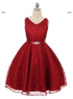 """Платье для девочки """"Хизари"""" Бордовое GG-3511"""