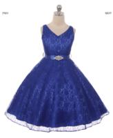 """Платье для девочки """"Хизари"""" Синее GG-3511"""