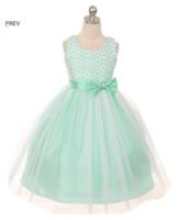 """Нарядное платье для девочки """"Мерелин"""" Бирюзовое GG-3525"""