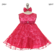 """Платье для новорожденной малышки """"Джорджия"""" Фуксия GG 3527"""