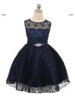 """Детское платье """"Джорджия"""" Темно-Синее GG-3527"""