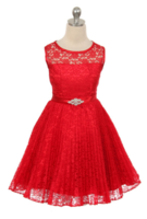 """Детское платье """"Джорджия"""" Красное GG-3527"""