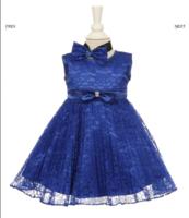 """Платье для новорожденной малышки """"Джорджия"""" Синее GG 3527S"""