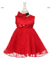 """Платье для новорожденной малышки """"Джорджия"""" Красное GG 3527"""