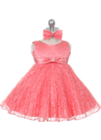 """Платье для новорожденной малышки """"Джорджия"""" Коралловый GG 3527"""