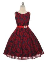 """Нарядное детское платье """"Желанья"""" Красное GG-3548"""